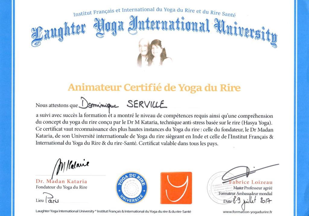 Présentation - Attestation Yoga du rire - Versailles Instant Yoga