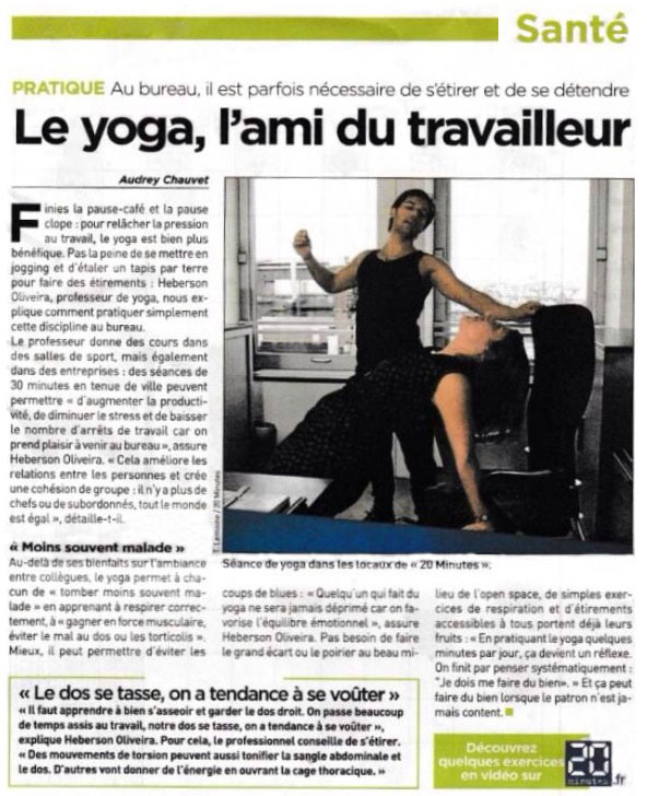 Activités-Actualités - Le yoga dans la presse - Versailles Instant Yoga